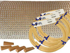 """Pressed Cane Webbing Kit 1/2"""" Fine Open Mesh With Splines Wedges and Instructio"""