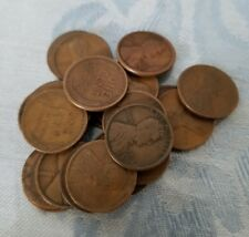 (25) 1910 - 1919 PDS TEEN LINCOLN WHEAT PENNY CENT LOT HALF ROLL - GOOD+