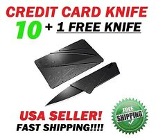 Bulk Lot of 10 + 1 FREE Credit Card Knives Pocket wallet knife Survival GIFT USA