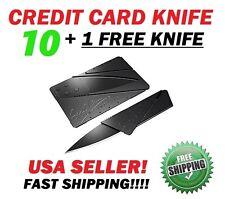 Bulk Lot of 10 + 1 FREE Credit Card Knives Pocket wallet knife Survival GIFT USA