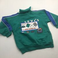 Vintage Little Levi's Racing Race Car Graphic Sweatshirt Boys Size 7