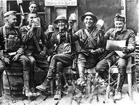 7x5 Gloss Photo ww1CBC World War 1 Americans Americans Biersteinsofficers