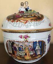 Carl Thieme Dresden Porcelain Covered Punch Bowl Tureen