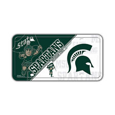 Metal Vanity License Plate Tag Cover - Michigan State University Spartans