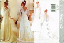 Butterick 4773 Misses Bridal Gown Wedding Dress pattern VTG 14-16-18 UNCUT FF