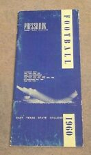 EAST TEXAS STATE UNIVERSITY - COLLEGE FOOTBALL MEDIA GUIDE - 1960