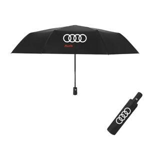 New Audi Car Umbrella Fully Automatic Push Button Brolly Rain Winter Accessory
