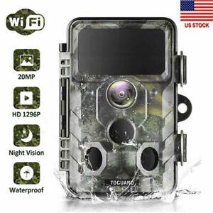 WiFi Bluetooth Trail Camera Hunting Game Cam 20MP Wildlife 1296P IR Night Vision