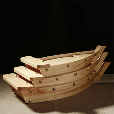 Wooden Restaurant Serving Tray Tableware Sushi Boat Bar Platter Japanese Cuisine