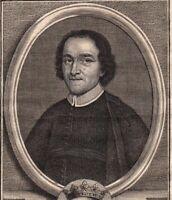 Portrait XVIIIe Joseph De La Fontaine Solare De La Boissière Prêtre Oratoire