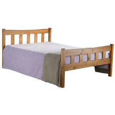 Miami Bed Frame - Small Double 4ft - Strong Wood, Headboard