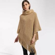 Luxury Lady Poncho Stole Cape Shrug Wrap Shawl Jacket Jumper Sweater Hoodie Hood