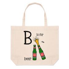 LETTERE B è per birra GRANDE BORSA CON MANICO da Spiaggia - DIVERTENTE ALFABETO
