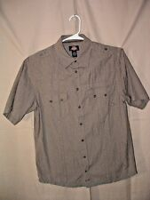 DICKIES, MEN'S SHIRT, L, BUTTON FRONT, SS, EPAULETS, 100% COTTON
