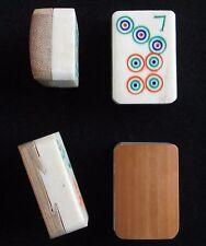 Vtg Set 4 Bone & Bamboo Mahjong Tiles Mah Jongg, Orphans Replacements Joker BB80