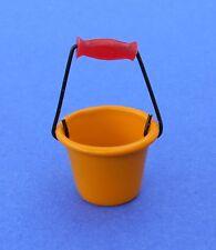 Miniature Dollhouse Yellow Metal Bucket 1:12 Scale New