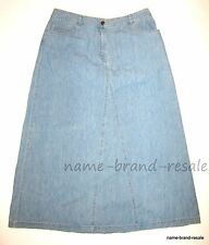 J. Jill Long Flared Denim Jean Skirt WOMENS 12 Misses Modest Flare A-Line J JILL