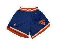New York Knicks VTG Authentic Champion 90s NBA Shorts sz M 32-34 USA