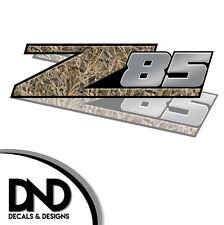 Z85 Decals 2 Pk Sticker for Chevy Silverado Sierra truck Highgrass Duck D&11 8in