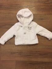Matalan Baby White Fleece Jacket Cardigan  6-9 Months