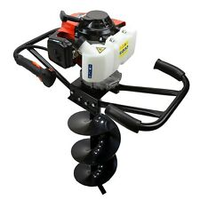 """2 Man Gas Powered Post Hole Fence Digger Auger, 63CC EPA, Includes 8"""" Auger Bit"""