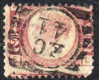 1878 Sg 48 ½d Rose-red 'EL' Plate 19 with London Duplex Cancellation Used