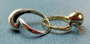 James Avery Retired 14k &.925 Two Tone Knot Puzzle Ring Sz6.5 Fun to wear