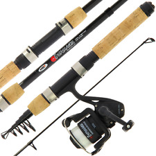 MINI TRAVEL FISHING TELESCOPIC ROD AND REEL, ONAMAZU CARBON COMBO NGT