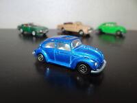 Très belle Majorette ancienne VW Cocinnelle COX Bleue electrique metallisé1
