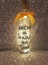 Dream Big Sparkle More Novelty Light up Wine Bottle Unique Gift.