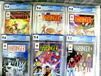 HARBINGER 1,2,3,4,5,6 With Coupons CGC 9.0  to  9.6 Valiant 1992- Great Set!