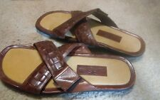 Tommy Bahama 10D brown leather slipper shoes