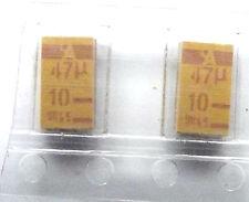 47uF 10V 10% dimensioni 7,5 mmx4mm Tantalio 47U 10 SMD tajd476k010r x2pcs