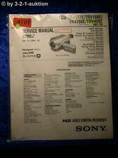 Sony Service Manual CCD TRV107E /TRV108E /TRV208E /TRV408E (#4701)