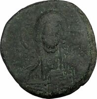JESUS CHRIST Class A2 Anonymous Ancient 1028AD Byzantine Follis Coin  i39334