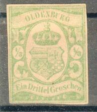 Oldenburg, Sc#12b, mint NG, VF, 2013 CV $1600, Signed, Germany