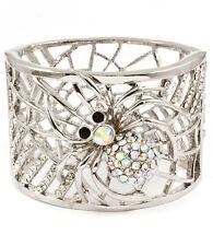 AB Crystal Spider Charm Bracelet
