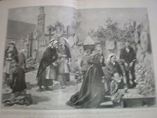 In Memory of the lost at sea Ploubazlanec churchyard Brittany France 1904 print