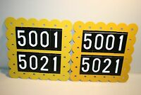 Vintage MOD Mid Century to 1960s Flower Metal Apartment Address Numbers Sign