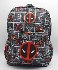 Marvel Deadpool Laptop Backpack Cosplay Color Shoulder School Bag 17''