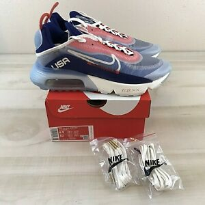 Nike Air Max 2090 USA Men's 8.5 / Women's 10 Red White Blue CT2010-100 Sneakers