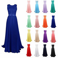 New Long Lace Bridesmaid Formal Ball Gown Party Cocktail Evening Prom Dresses