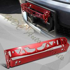 JDM Red Aluminum Bumper Adjustable Tilt License Plate Bracket Kit Universal 1