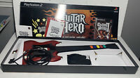 Original Guitar Hero PlayStation 2 PS2 Bundle w/Red Wired Gibson! Bad Whammy Bar