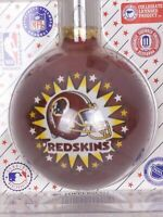 Vintage Sports Collector Glass Ball Christmas Ornament NFL WAS Redskin Football