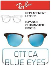 Lenti di Ricambio RAYBAN CLUBMASTER RB3016 Replacement Lenses RAY BAN BLU MIRROR