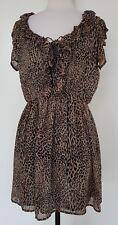 BARDOT Black/Brown Animal Print Dress Size 10