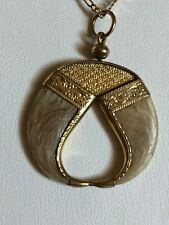 Antique Victorian Double Tiger Claw Pendant in 18k Yellow Gold