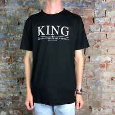 King Clothing Plain logo T-Shirt New  - Size: M - Black