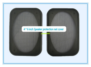 """2pcs 4""""x6""""inch Car Speaker Metal Mesh Grille Protection Decorative Circle Cover"""